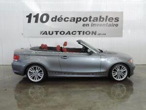 2011 BMW 1 Serie 128i M-PACKAGE DÉCAPOTABLE CUIR ROUGE TRÈS BEAU