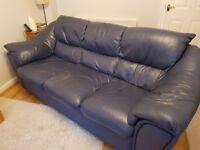 SoFa - soGood! 3-seater leather (blue denim) sofa