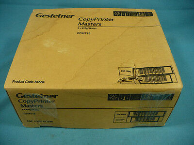 - Gestetner CopyPrinter Masters 2x470g/16.6oz CPMT16 CPMT 16 New Factory Box