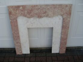 MARBLE FIREPLACE SURROUND (only)