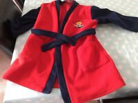 Dressing gown bob the builder size 3-4 years