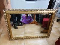 "Mirror large vintage wall mirror L35"" W25"""