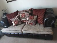 3 seater sofa with matching Love Chair