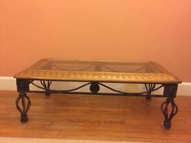 Black and Gold Coffee Table - Cast Iron