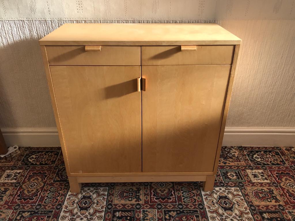 Birch light wood cabinet cupboard
