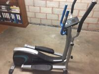 Free cross trainer with electronic display