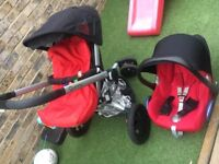 Quinny buzz travel system with maxi cosy car seat. Good used condition