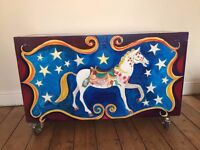 Large Hand Painted Toy Chests