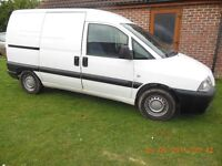 1.9 diesel 3 seater p/a/s/ ply lined f/s/history 1 years mot twin side loading door