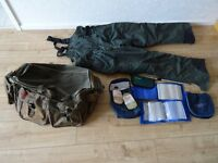 Sundridge insulated trousers - holdall - pilchard oil - sardine oil - sea tech rig wallets