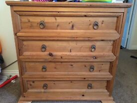 2 X pine chests of draws