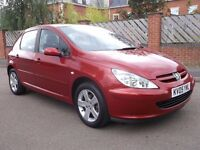 2005 PEUGEOT 307 1.6 HDI 5 DOOR MOT 1 YEAR SUPERB CONDITION GREAT DRIVER