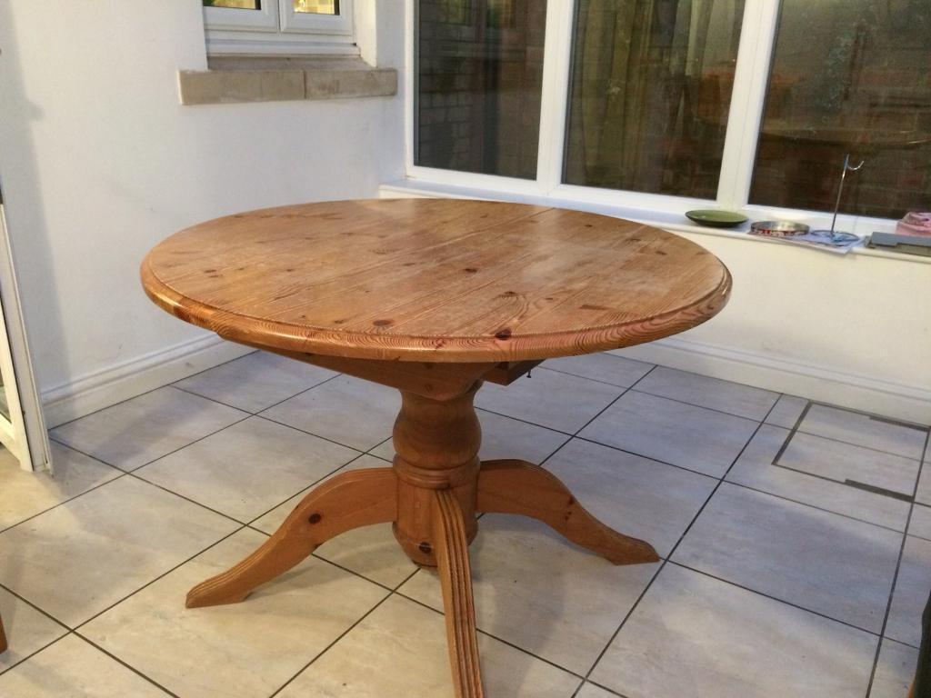 An Extendable Oak Kitchen Table