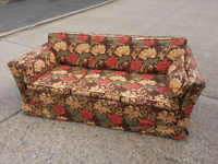 Sofabed in William Morris print + matching rocking chair