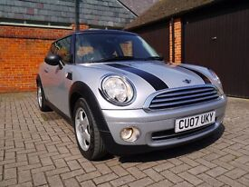 2007 MINI COOPER, EXTENDED MINI WARRANTY UNTIL DEC 2018, FSH, IMMACULATE CONDITION INSIDE & OUT