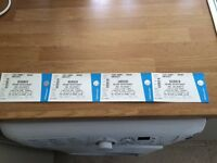 4 tickets for Noel Gallagher's High Flying Birds Fri 02nd September Singleton Park, Swansea