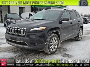 2015 Jeep Cherokee Limited 4WD | Leather, Panoramic Moonroof