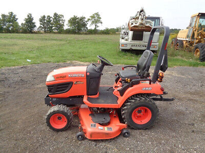2012 Kubota Bx2660 Tractor 4wd Hydro 60 Belly Mower R4 Tires 961 Hours