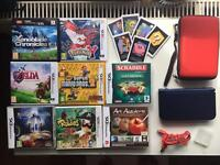 New Nintendo 3DS XL - BLUE + 8 GAMES + CASE - Perfect condition