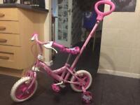Unicorn girls first bike.