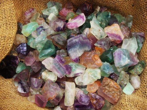 500 Carat Lots of Unsearched Natural Fluorite Rough + a FREE faceted gemstone
