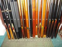 "***** 40+ Years ""CUE"" collection of Snooker & Pool, Cues also Extensions/Cases BARGAINS *****"
