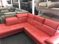 New/Ex Display ScS Thornhill Corner High Grade Leather Sofa
