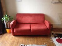 Sweet Sofa Bed for Sale - Red Suede!