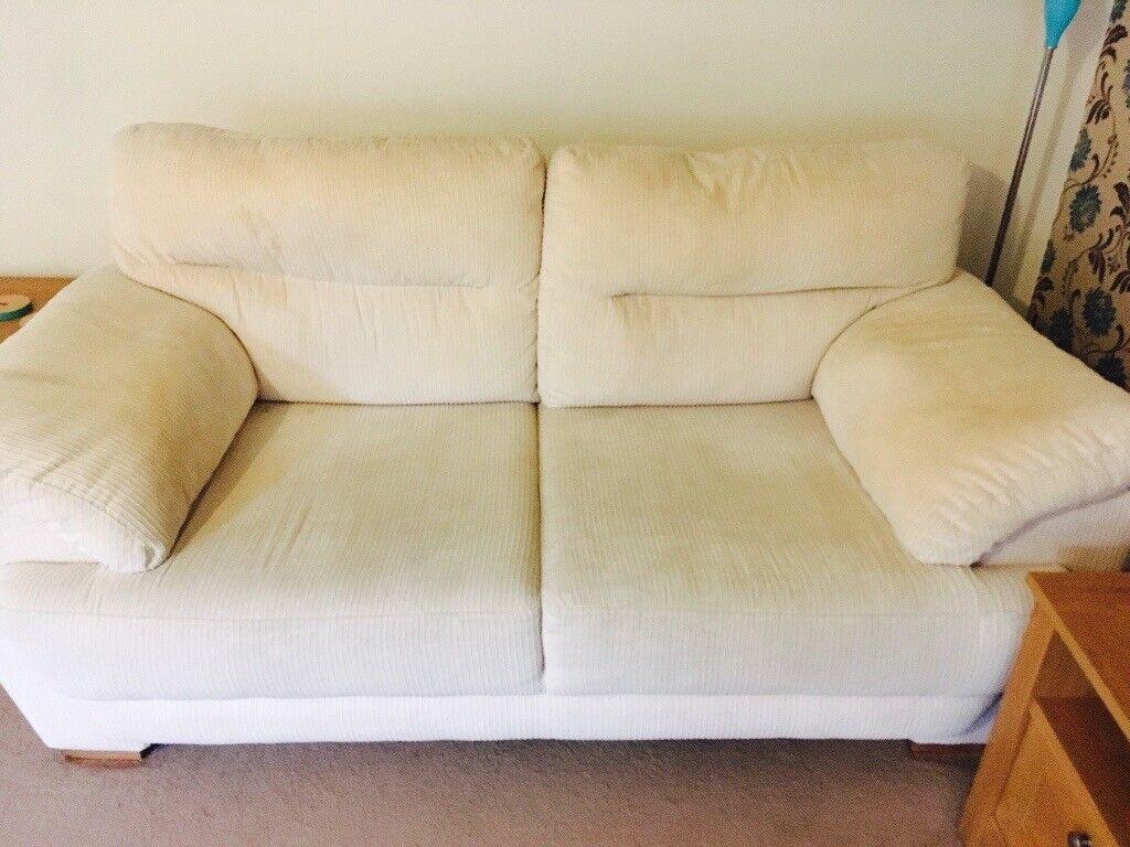 Harvey's Cream 2 Seater Sofa
