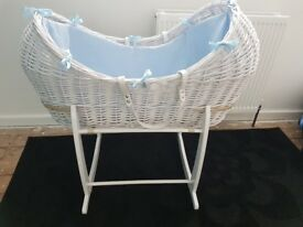 Blue Clair De Lune Moses Basket