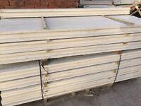 Concrete fence post, gravel boards, base panels