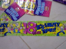 18th Birthday banners........... New......... JUST 50p !