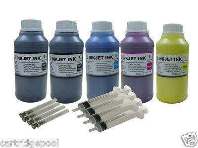 5x10oz Refill Pigment Ink Kit For Epson 125 T125 Stylus N...