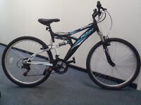 "Raleigh Designed Activ Spectre Mountain Bike - Full Suspension/18"" Frame/18 spd/Aloy Rims - RRP £200"