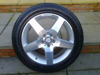 ALLOYS X 4 OF 19 INCH GENUINE MERCEDES ML4X4 AMG DIAMOND CUT IN EXCELLENT CONDITION WITH TYRES