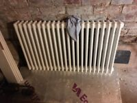 Acova 3 column radiator approx 60cm x 104cm, white, used condition