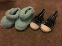 Mothercare baby boots and slippers