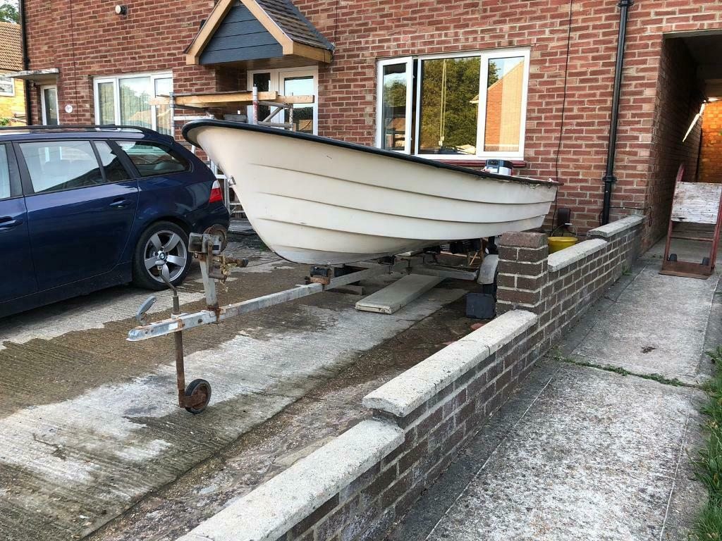 Fishing boat Shetland dolphin 14ft fight with engine and trailer | in  Havant, Hampshire | Gumtree