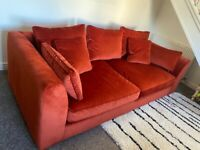 Barker and Stonehouse sofa - only 3 months old. Burnt orange - perfect condition