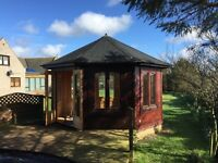Wooden Summer House 8 sided fully double glazed 4m