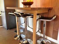 Solid oak worktop/breakfast table