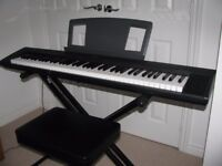 Yamaha NP30 Portable 'Grand Piano' keyboard (with matching stand / bench) Good quality, lightweight