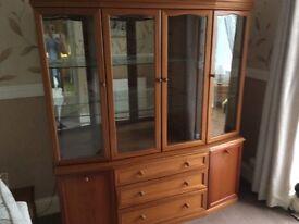 Teak display cabinet