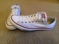 White Converse All Stars UK9.5