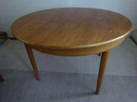**Bargain** Teak G Plan Retro Vintage Extending Dining Table & Four Matching Teak Chairs