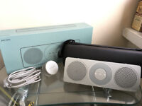 John Lewis Spectrum Travel Speaker - Bluetooth + NFC - Boxed + Carry Case + Charger - Slate Colour