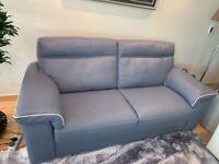 Natuzzi 2.5 seater Leather Sofa in new condition