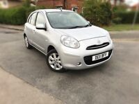 2011 NISSAN MICRA 1.2 ACENTA AUTO 5DR,13000 MILES ONLY,NISSAN HISTORY,NEW MOT & SERVICE DONE,BARGAIN