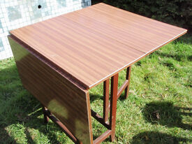 Drop Leaf Retro Vintage Formica Table Space Saving Folding Heavy Table