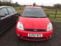 FORD FIESTA RED 5 DOOR 52 PLATE MOT £350